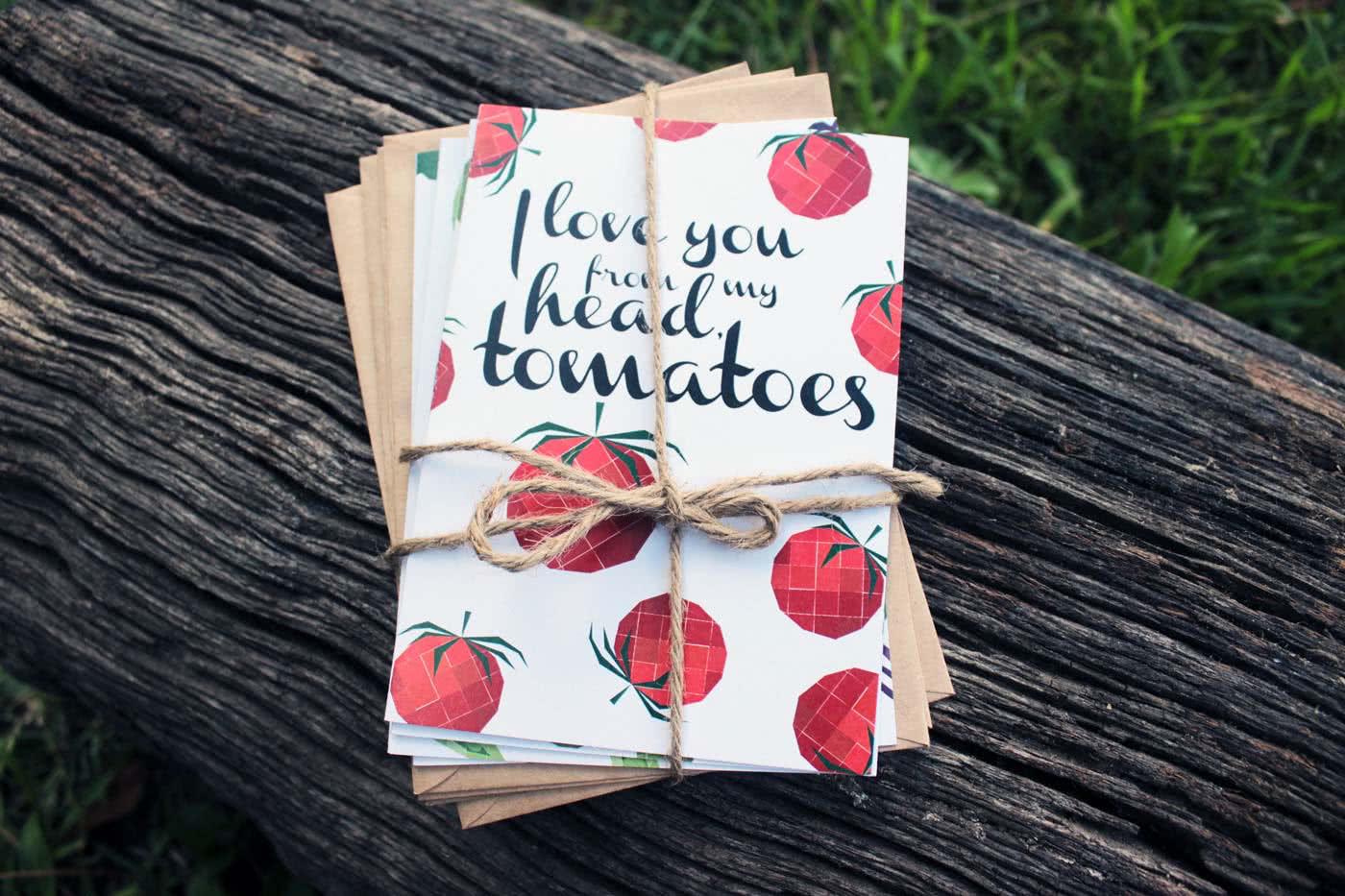 Birthday Card Food Puns ~ 5 x vegetable pun greeting cards pack rosie lou