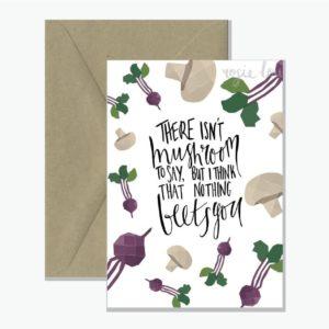 Mushroom Pun Greeting Card