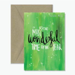 Most Wonderful Christmas Card Watercolour