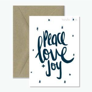 Peace Love Joy Christmas Card